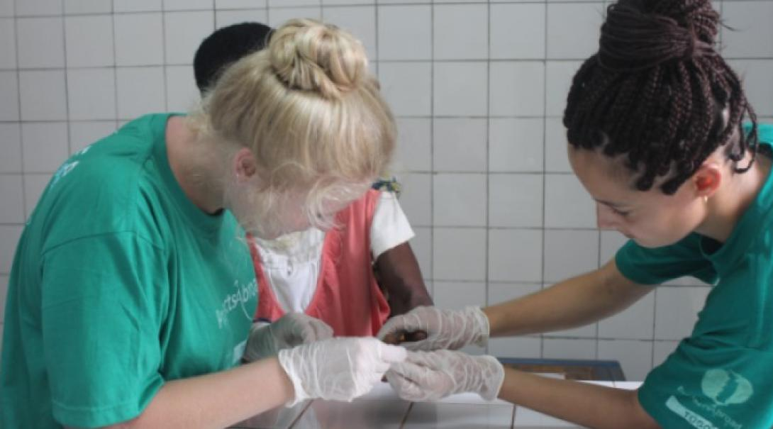 Two nursing students learning in Togo